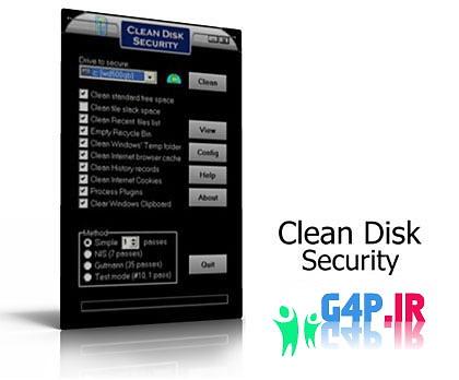 پاك كردن مطمئن فايل ها با Clean Disk Security v7.84 Portable
