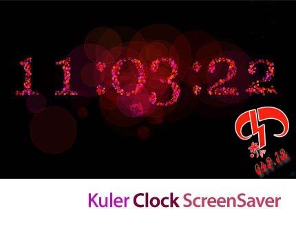 دانلود اسکرین سیور ساعت دیجیتال – Kuler Clock ScreenSaver