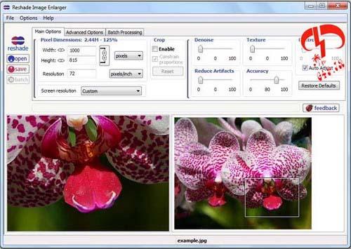 دانلود نرم افزار بزرگنمایی عکس تا ۲۰ برابر – ReShade.Image.Enlarger.v2.0