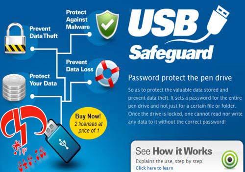 دانلود نرم افزار رمزگذاری بر روی درایوهای قابل حمل – USB Safeguard 6.0