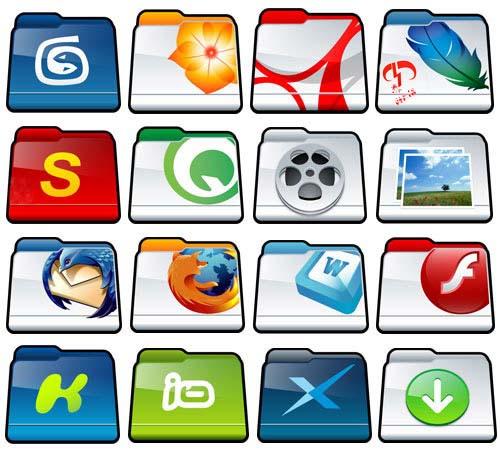دانلود مجموعه از آیکون های زیبا با موضوع پوشه – Nice Folder Icon Pack