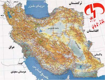 دانلود نقشه کامل راه ها و شهرهای ایران