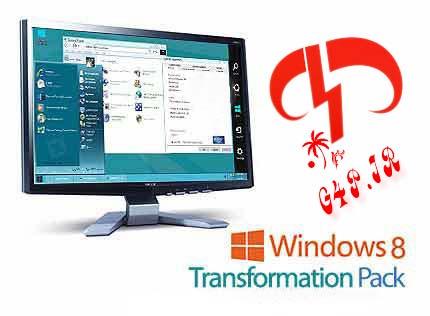 دانلود نرم افزار تبدیل محیط ویندوز به ویندوز ۸ – Windows 8 Transformation Pack 4