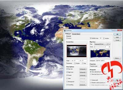 دانلود نرم فزار مشاهده زنده کره زمین با تمامی وقایع آن در دسکتاپ – EarthView 4.0.0